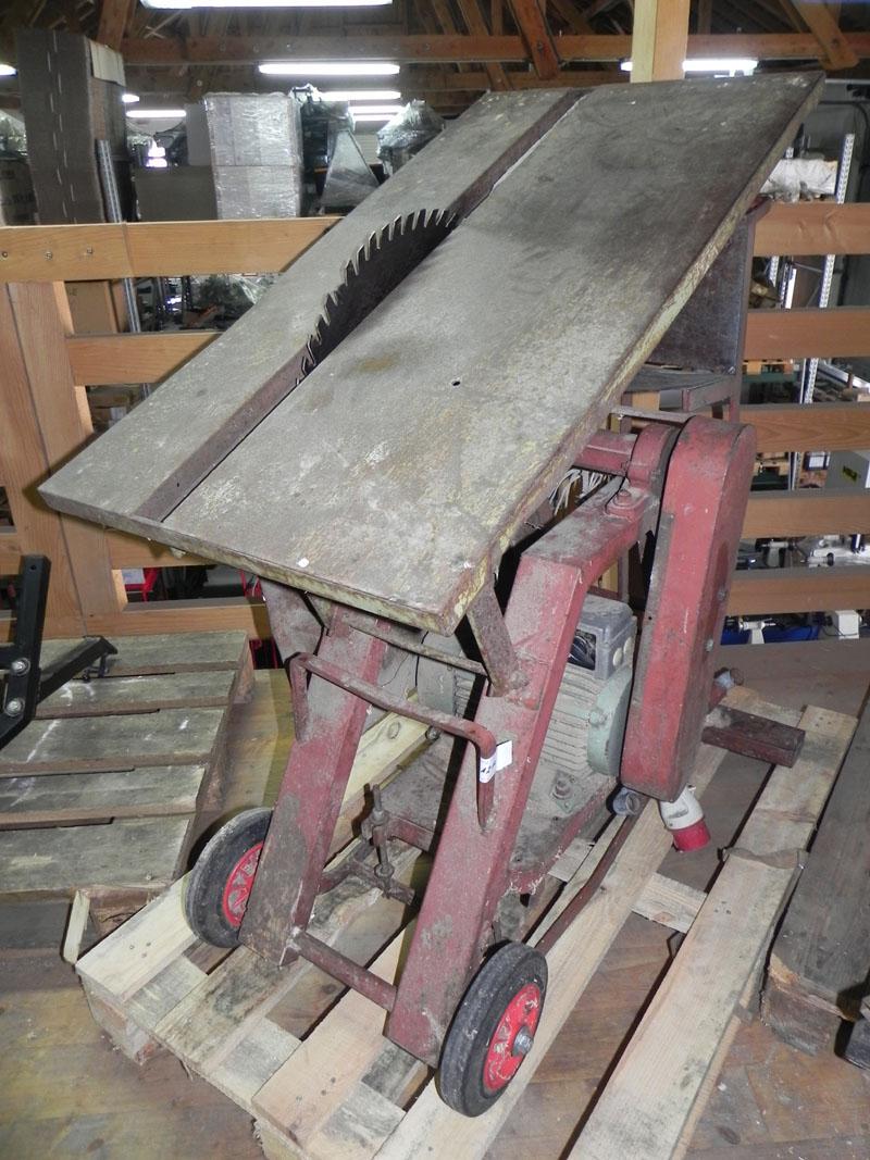 Gebrauchte selbstgebaute tisch‑wippsäge